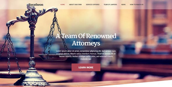 Baratheon - One Page Law Firm HTML Template