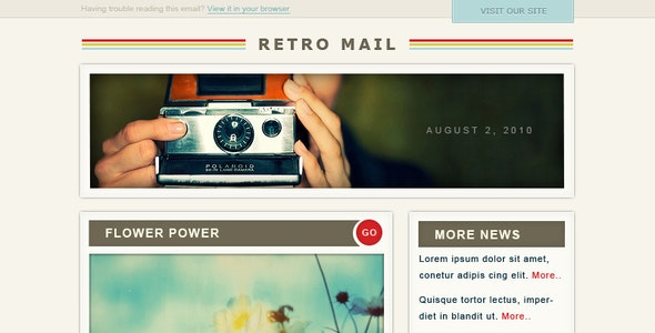 Retro Mail - Newsletters Email Templates