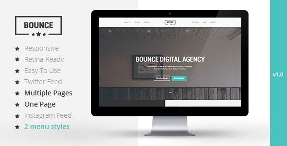 BOUNCE - Responsive Multipurpose Template - Portfolio Creative
