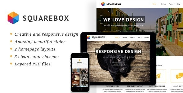 Squarebox - Creative Multi-Purpose HTML Theme - Business Corporate