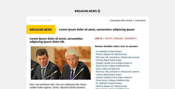 Breaking NEWS - Email Template - Alert - Newsletters Email Templates