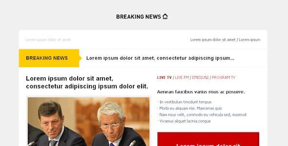 Breaking NEWS - Email Template - Alert