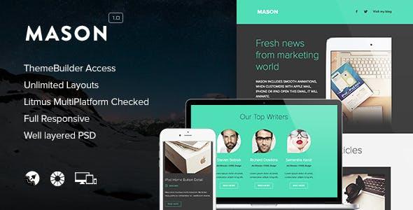 Mason - Responsive Email + Themebuilder Access