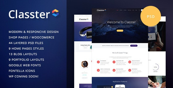 Classter | Multi-Purpose PSD Template - Corporate Photoshop