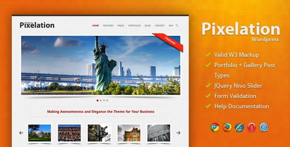 Pixelation - Wordpress - Portfolio Creative