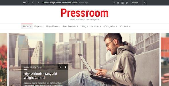 Pressroom - Responsive News and Magazine Template