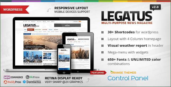 Legatus - Responsive News/Magazine Theme