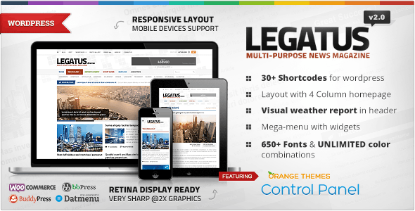 Legatus - Responsive News/Magazine Theme - News / Editorial Blog / Magazine
