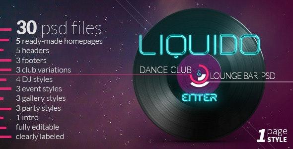 Liquido - Dance and Night Club Theme - Nightlife Entertainment