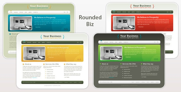 Rounded Biz - Professional Business Template - Business Corporate