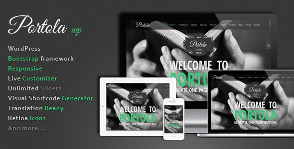 Portola WordPress Theme - Creative WordPress