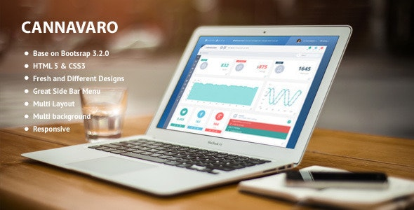 Cannavaro - Notepad Memo Admin Dashboard Template - Admin Templates Site Templates