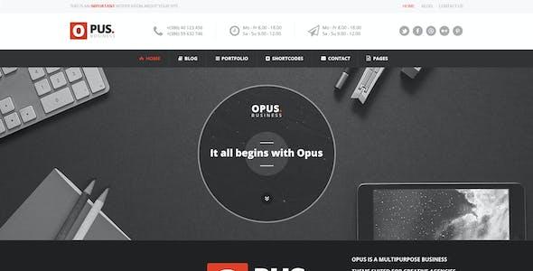 Opus - Business PSD Template