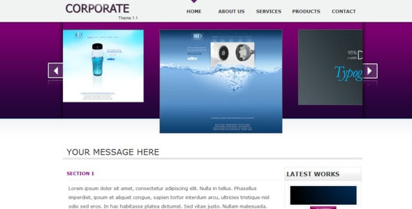 Corporate Theme 1.1 - Corporate Site Templates