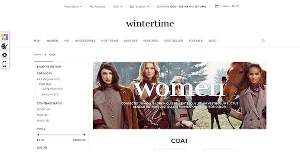Responsive Magento Theme - Gala Wintertime