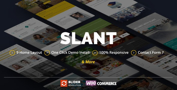 Slant - Onepage Responsive Multi-Purpose Theme - Creative WordPress