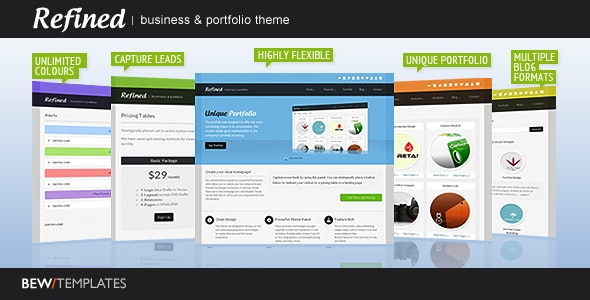 Refined : Business & Portfolio Theme - Creative WordPress
