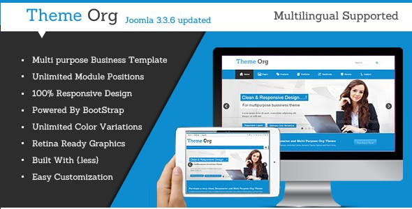 Theme-Org - Responsive Multi-Purpose Joomla Theme