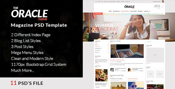 Magazine PSD Template - The Oracle - Corporate Photoshop