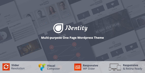 Identity - Multi/One-Page Business WordPress Theme - Corporate WordPress