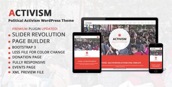 Activism – Political WordPress Theme