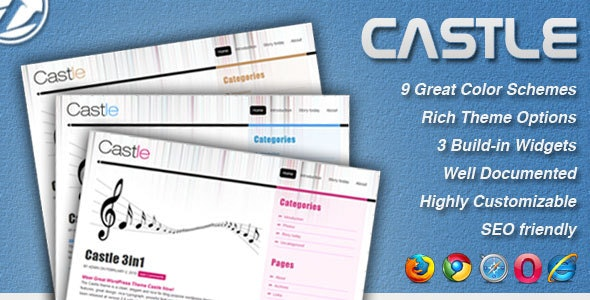 Castle - 9 in 1 Professional Blog Template - Creative Site Templates
