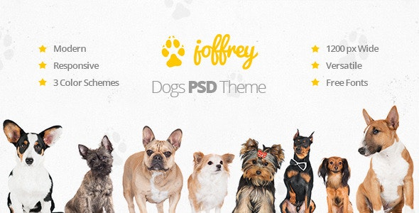 Joffrey - A PSD Theme for Dog Lovers - Creative Photoshop