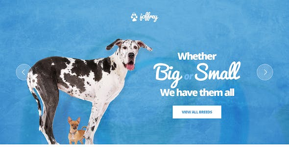 Joffrey - A PSD Theme for Dog Lovers