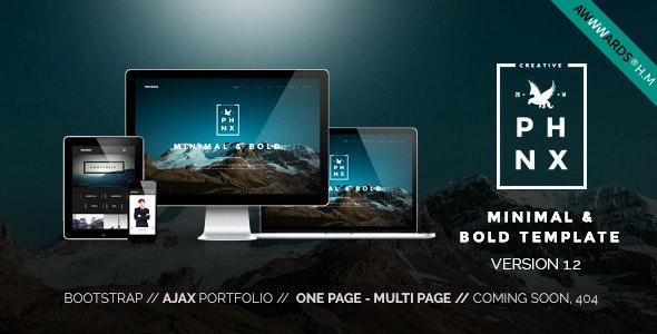 Phoenix - Minimal Multipurpose Portfolio - Portfolio Creative
