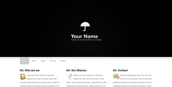 Clean and minimal HTML Template - Miscellaneous Site Templates