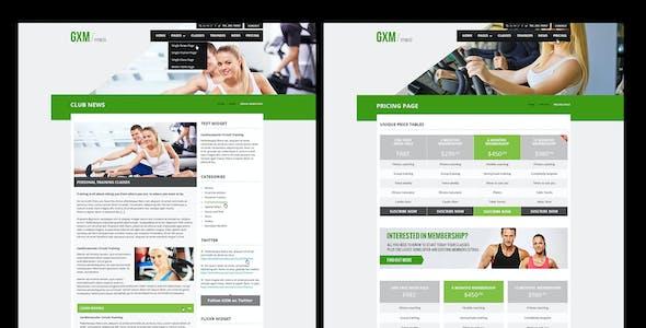 GXM - Gym/Fitness Club PSD Theme