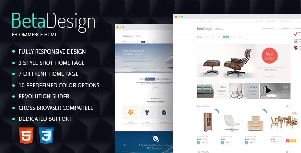 Beta Design | E-Commerce HTML Template - Shopping Retail