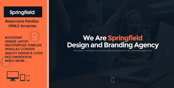 Springfield - Responsive HTML5 Parallax Theme - Business Corporate