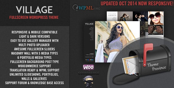 Village - A Responsive Fullscreen WordPress Theme - Photography Creative