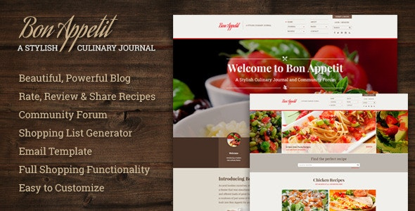 Bon Appetit | A Stylish Culinary Journal - Creative PSD Templates