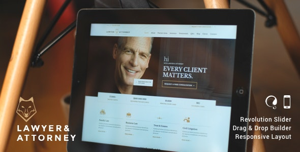 Lawyer & Attorney - Law Firm WordPress - Business Corporate