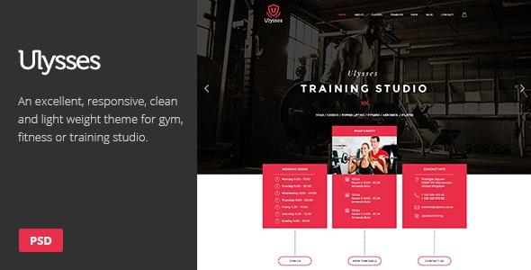 Ulysses | Gym Fitness PSD Theme - Health & Beauty Retail