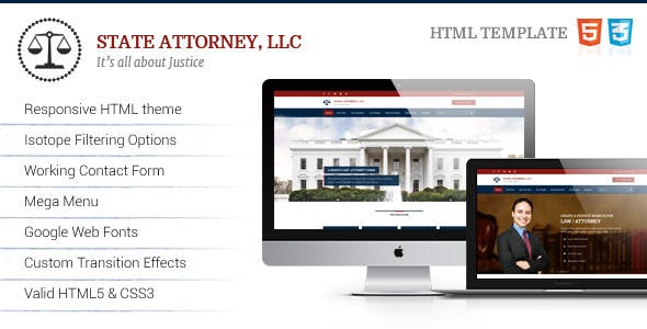 Attorney and Legal | Lawyer HTML Template