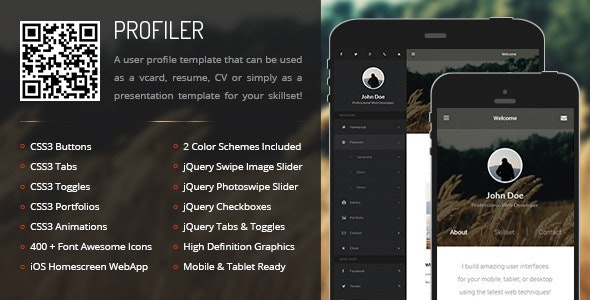 Profiler Mobile - Mobile Site Templates