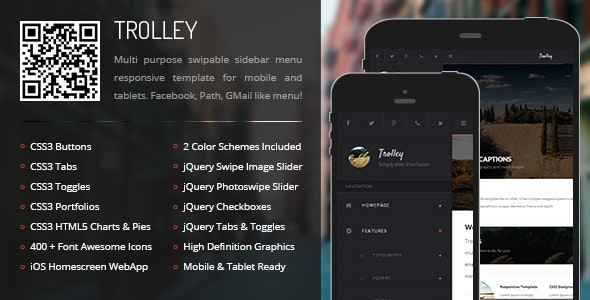 Trolley Mobile - Mobile Site Templates