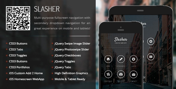Slasher Mobile by Enabled | ThemeForest