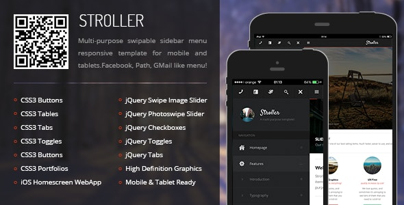 Stroller Mobile - Mobile Site Templates