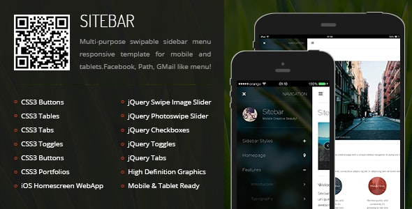 Sitebar Mobile - Mobile Site Templates