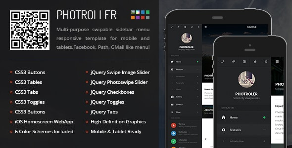 Photroller Mobile - Mobile Site Templates