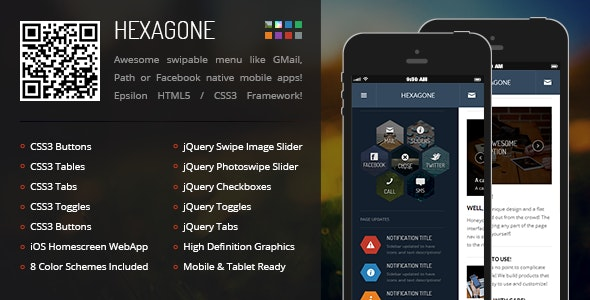 Hexagone Mobile - Mobile Site Templates