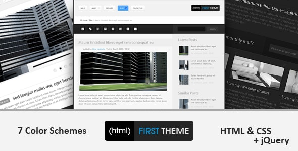 (html) First Theme - Corporate Site Templates