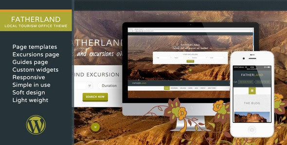 Fatherland – Local Tourism Travel Agency Excursions WP Theme - Travel Retail