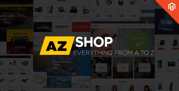 Ves AZ Shop Responsive Multipurpose Magento 2.2.x Theme - Shopping Magento