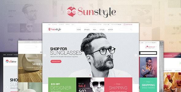 Ves Sunstyle Responsive Multipurpose Magento Theme - Shopping Magento