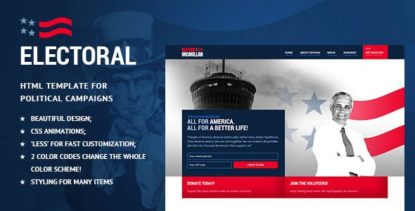 Political Html Website Templates From Themeforest
